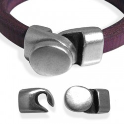 Zamak Clasp Hook for Regaliz Leather 31x16mm (Ø 10x7mm)
