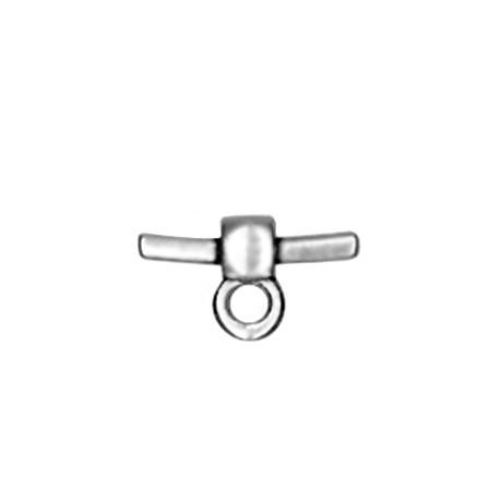 Intercalaire Embout avec Anneau pour Cordon PVC en Métal/Zamac, 16/2.1mm
