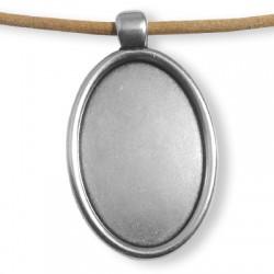 Perles Métal / Zamac - Cadre Ovale 45x30mm (Ø 4mm)