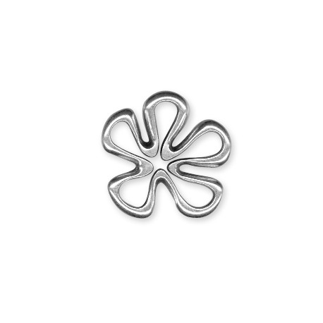 Breloque Fleur en Métal/Zamac, 23.5x26mm