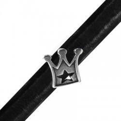 Zamak Slider Crown for Regaliz Leather 18x14mm (Ø 10x7mm)