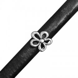 Μεταλλικό Ζάμακ Χυτό Στοιχείο Περαστό Λουλούδι 15mm (Ø 10x7mm) για Δέρμα Regaliz
