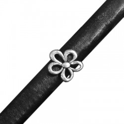 Zamak Slider Flower for Regaliz Leather 15mm (Ø 10x7mm)