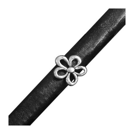 Passante in Zama Fiore per Cuoio Regaliz 15mm (Ø 10x7mm)