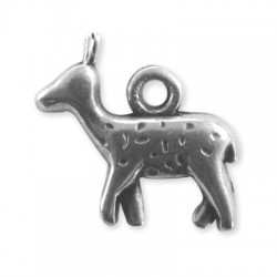 Zamak Charm Deer 16x19mm
