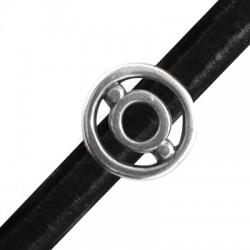 Μεταλλικό Ζάμακ Χυτό Στοιχείο Περαστό Κύκλοι 20mm (Ø10x7mm) για Δέρμα Regaliz