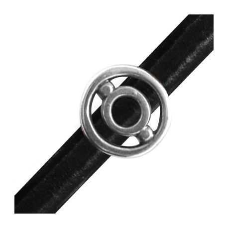 Passant Rond en Métal/Zamac pour Cuir Regaliz, 20mm (Ø 7x10mm)