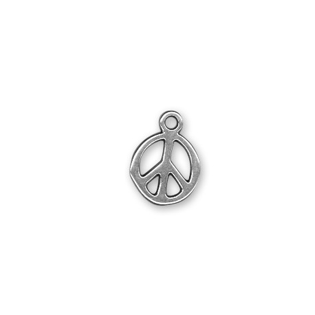 Breloque Symbole de la paix en Métal/Zamac, 13mm