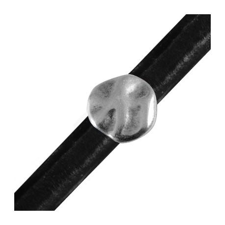 Passante in Zama Irregolare Rotondo per Cuoio Regaliz 20mm (Ø 10x7mm)