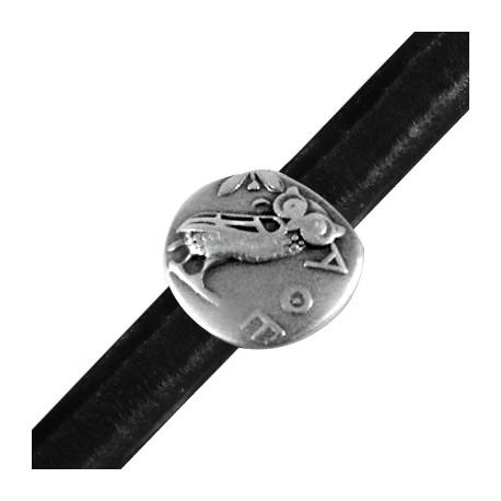 Passant Hibou en Métal/Zamac pour Cuir Regaliz, 19mm (Ø 7x10mm)