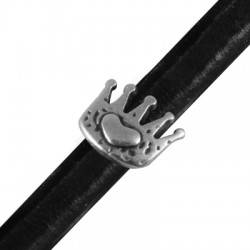 Zamak Slider Crown for Regaliz Leather 15x13mm (Ø 10x7mm)