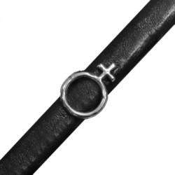 Passante in Zama Simbolo di Venere per Cuoio Regaliz 14x20mm (Ø 10x7mm)