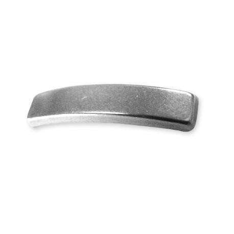 Intercalaire en Métal/Zamac pour Cordon PVC Rectangulaire, 3x6x29mm