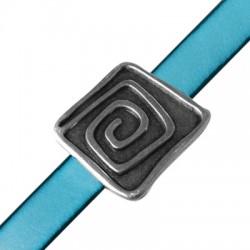 Passante in Zama Quadrato con Spirale 30mm (Ø 10x2.5mm)
