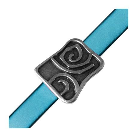 Passante in Zama Rettangolare con Spirale 29x32mm (Ø 10x2.5mm)
