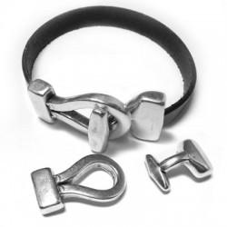 Zamak T-Clasp Hook 40x20mm (Ø 10.5x2.5mm)