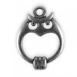 Zamak Charm Owl 22x17mm