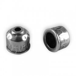Coupelle en Métal/Zamac, 8.5x9.5mm (Ø 6.3mm)