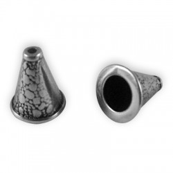 Coupelle Conique en Métal/Zamac, 13.6x11.6mm (Ø 6.3mm)