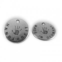 Zamak Charm Logo Handarbeit 13mm