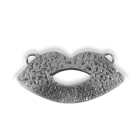 Pendentif Lèvres en Métal/Zamac, 41.5x20.5mm