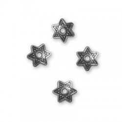 Zamak Bead Cap Star 9mm (Ø 1.6mm)