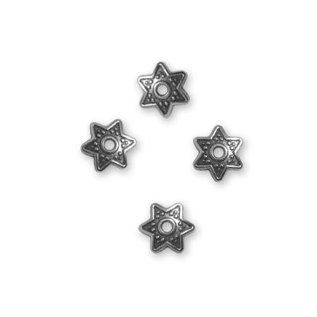Coupelle Étoile en Métal/Zamac, 9mm (Ø 1.6mm)