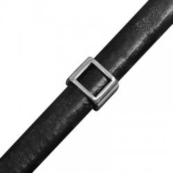 Passante in Zama Tubo Quadrato per Cuoio Regaliz 13x10mm (Ø 10x7mm)