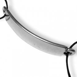 Zamak Connector Curved Bracelet Bar 11x52mm
