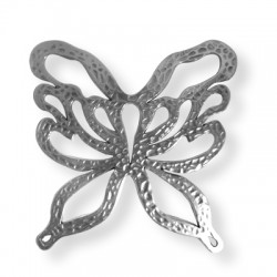 Pendentif Papillon en Métal/Zamac, 70x71mm