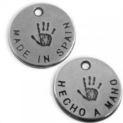 Zamak Charm Logo 'Made in Spain / Hecho a Mano' 13mm