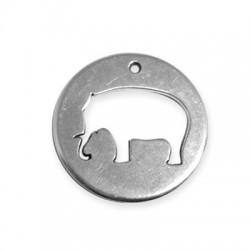 Zamak Pendant Elephant Round 39mm