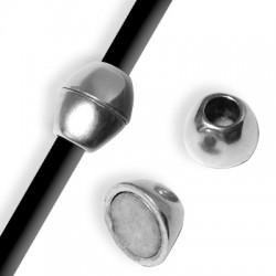 Fermoir Ovale Aimanté en Métal/Zamac (Ø 5.2mm)