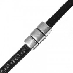 Fermoir Aimanté en Métal/Zamac, 18x8mm (Ø 5x2mm)