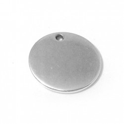 Médaille Ronde en Métal/Zamac, 20mm
