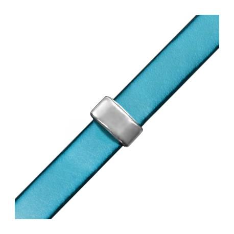 Passante in Zama Rettangolare Liscio 13x7x5mm (Ø 10.2x2.2mm)
