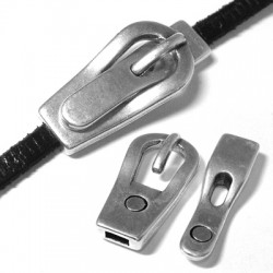 Zamak Magnetic Clasp Buckle 37x17x4mm (Ø 5.4x2.2mm)