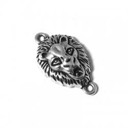 Μετ. Ζάμακ Χυτό Μοτίφ Κεφάλι Λιονταριού για Μακραμέ 25x15mm