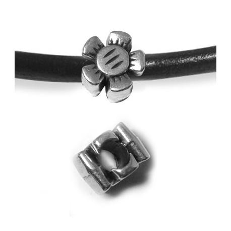 Passante in Zama Fiore 12x8mm (Ø 5mm)