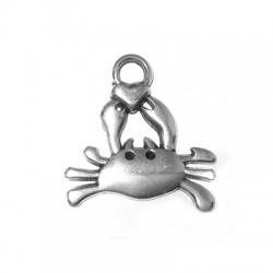 Breloque Crabe en Métal/Zamac, 25x25mm