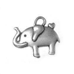 Zamak Charm Elephant 30x25mm