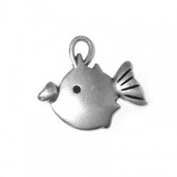 Zamak Charm Fish 23x26mm