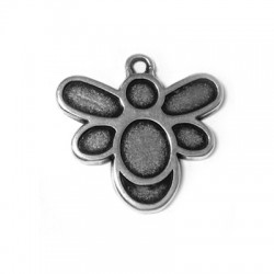 Zamak Charm Bee 20x24mm (Suitable also for Enameling)