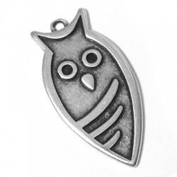 Zamak Pendant Owl 40x20mm (Suitable also for Enameling)