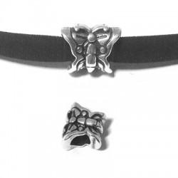 Passant Papillon en Métal/Zamac, 14x11mm (Ø 5.2mm)