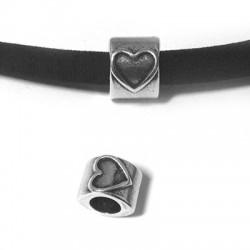 Μεταλλική Ζάμακ Χυτή Χάντρα Καρδιά 10x8mm (Ø5.2mm)
