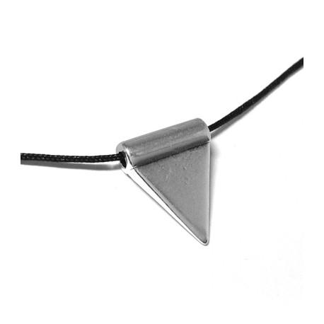 Pendentif Triangle avec Trou en Métal/Zamac, 17x8mm (Ø 2.5mm)