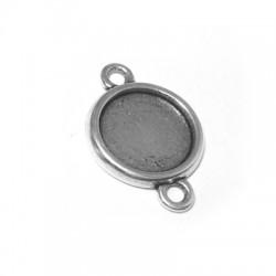 Μεταλλικό Ζάμακ Χυτό Στοιχείο Βάση Σύνδεσμος για Μακραμέ 19mm (εσωτ.διάμετρος 15mm)