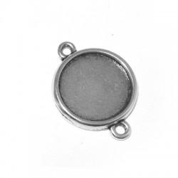 Μεταλλικό Ζάμακ Χυτό Στοιχείο Βάση Σύνδεσμος για Μακραμέ 24mm (εσωτ.διάμετρος 19mm)