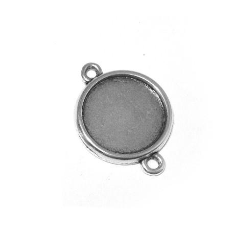 Intercalaire-Support Rond en Métal/Zamac, 24mm (Diamètre Intérieur 19mm)